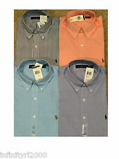 NEW POLO RALPH LAUREN MENS L/S BROADCLOTH BUTTON DOWN STANDARD FIT SHIRT 4 LOT