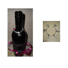 Birthday Present 16th 18th 21st 30th 40th 50th 60th 65th Wine Bottle Charm Ring