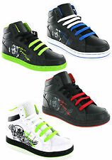 New Boys Kids Ankle Hi Top Baseball Boots Skate Mercury Trainers Size 13-6