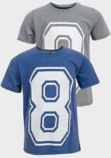BNWT Boys SOUL & GLORY Printed T-Shirt, Blue/Grey, Choose Size & Colour