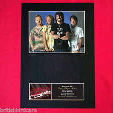 FOO FIGHTERS Autograph Mounted Photo REPRO QUALITY PRINT A4 192