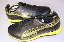 Puma Faas Trac Golf Shoes Waterproof Leather Black/Fluorescent Yellow 7 1/2 - 13