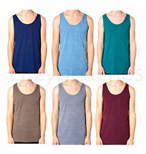 American Apparel Triblend Tank Top, Men's UNISEX T-Shirt, Tee, 100% AUTHENTIC
