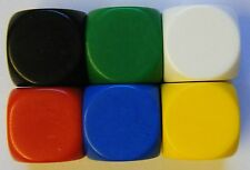10 Blank Dice Six Sided Rounded Teaching Resource Plastic Cubes Jewelery NEW