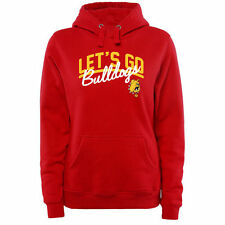 Ferris State Bulldogs Women's Plus Sizes Let's Go Pullover Hoodie -Red - College