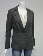Lucky Brand Gray Two Button Three Pocket Linen Blazer Gray Sz XS, S NWT $129