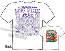 50th Anniversary Ed Roth T Shirt Rat Fink Tee Big Daddy Clothing Sz L