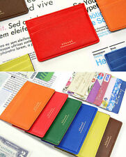 Flat Card Holder Business ID Credit Name Card Case Pocket Wallet Cute Organizer