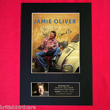 JAMIE OLIVER Signed Autograph Mounted Photo RE-PRINT A4 15