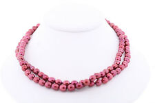 """Honora 7-8mm Baroque Dyed Cherry Red/Pink Genuine Cultured Freshwater Pearls 36"""""""