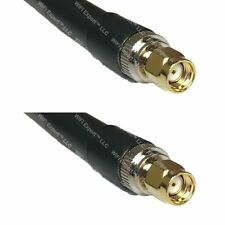LMR400 RP-SMA MALE to RP-SMA MALE Coaxial RF Pigtail Cable USA