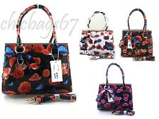 New Ladies Girls Large Patent Faux Leather Butterfly Shoulder Bag Bow Handbag