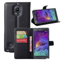 "Protective PU Leather Case Cover For 5.7"" Samsung Galaxy Note 4 N9100 Cellphone"