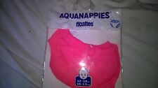 NEW FLOATIES  AQUA-NAPPY / DIAPER  RED /  PINK AGES 3-6mths, 6.12mths, 12-18mths