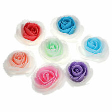25 Foam Flowers Fake Rose Heads Wholesale For Crafts Wedding Centerpieces Decor