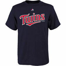Minnesota Twins Majestic Youth Official Wordmark T-Shirt - Navy - MLB