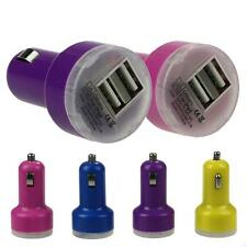 NEW USB Devices Bullet Adaptor Dual USB 2-Port Car Charger For iPhone iPod Touch