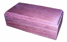 Purple Heart hardwood Jewelry Box - Elegant and Gorgeous Wood Grain made in USA