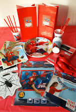 SPIDERMAN/SUPERHERO Kids Party Pack/Set-Plates,Decorations,Tableware,Party Bags