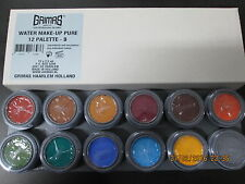 Grimas Professional Stage Face Paint / Water Make-Up 12 Colour Palette - B