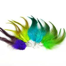 Colorful Downy Feather Earrings Long Drop Eardrop Charm Party Jewelry New W7K2