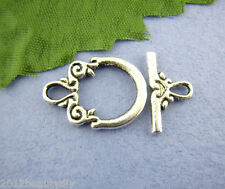 Wholesale Lots Silver Tone Toggle Clasps Ring 14x20mm Wholesale