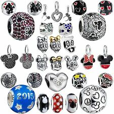 2017 Brand European 925 Sterling Silver Bead Lovely Cartoon Charms For Bracelets