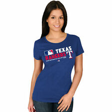Women's Majestic Royal Texas Rangers Authentic Collection Team Choice T-Shirt
