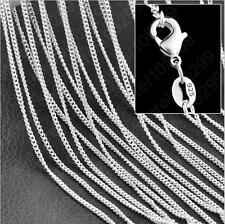 "Wholesale lots 5pcs AG 925 Silver Plated 1.4mm Rolo Curb Chain Necklace 16""-30"""