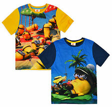 Boys Minions T-Shirt Official Despicable Me Top New Kids Short Seeved Tee 3-8Yrs