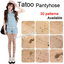 New Trendy Sexy Tattoo Pattern Tatoo Sheer Pantyhose Tights Stockings