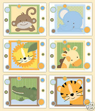 Safari Animal Nursery Prints Wall Art Baby Boy Girl Jungle Shower Gift Decor