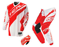 Oneal Element RACE S16 red white Trousers, Shirt, Gloves Matrix red MX Enduro