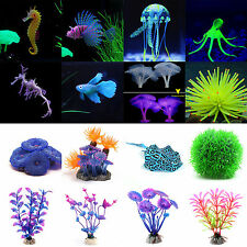 Aquarium Fish Tank Landscape Decoration Glow Simulation Animal Plant Ornaments