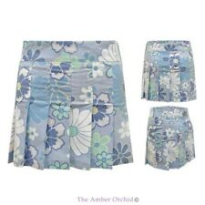 NEW LADIES DAISY FLORAL PRINT COTTON SUMMER WOMENS SHORT MINI FRILL SKATER SKIRT