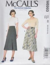 McCall's Sewing Pattern Archive Circa 1933 Misses' Skirts & Belt 6 - 22 M6993