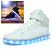 High Top Luminous Sport Shoes USB Charging Led Light Lace Up LED Unisex Sneaker