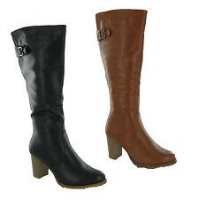 WOMENS COCONEL FASHION MID CALF SOFT ZIP CASUAL WINTER GRIP BOOTS 3-8