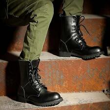 Fashion Black Men's Lace Up Desert Waterproof Combat Military Ankle Boots Shoes