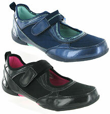 Mercury Fashion Patent Look Casual Velcro Womens Shoes Trainers Size 3-8 UK