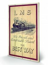 LMS The Smooth And Comfortable Travel Wooden Wall Art Officially Licensed