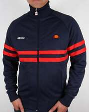 Ellesse Rimini Track Top in Navy Blue & Red - retro 80s casual classic Milan