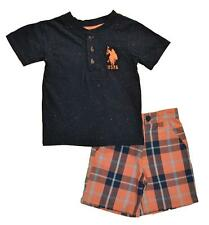 U.S. Polo Assn Toddler Boys Speckled Top 2pc Short Set Size 2T 3T 4T $36
