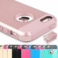 Hybrid PC Rugged Rubber Silicone Hard Back Cover Case Skin for Apple iPhone 5&5s