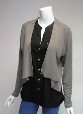 Carmen Marc Valvo Taupe Long Sleeve Shrug Jacket NWT Sz XS, S, M, L