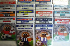 Football Nut Happy Birthday Card (Beer or Scarf) Plain, Male Relatives 20+ Clubs