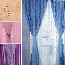 1 Pcs Chic Room Bubble Pattern Voile Window Curtains Sheer Panel Drape Curtains