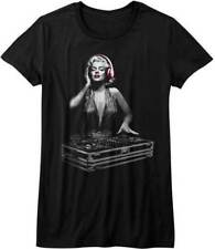 T-Shirts Sizes S-XL Marilyn Monroe Rock the Bass DJ Juniors T-Shirt Music Models