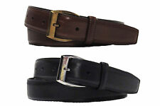 $350 Ralph Lauren Mens Italy Brown Black Leather Single Prong Buckle Belt New