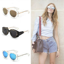 Fashion Unisex Women Men Vintage Retro Fashion Aviator Mirror Lens Sunglasses